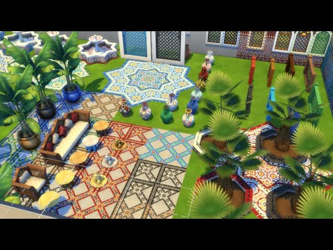 The sims 4 Courtyard Oasis Kit (everything in kit) |