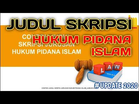 Kumpulan Judul Skripsi Hukum Pidana Islam Terbaru Terlengkap Youtube