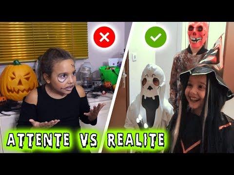 ATTENTE Vs RÉALITÉ : Halloween ... ou pas !