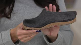 Haflinger Grizzly GZ Classic Wool Felt Clogs on QVC