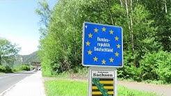 Spaziergang an der Grenze zwischen Deutschland und Tschechien entlang der Elbe