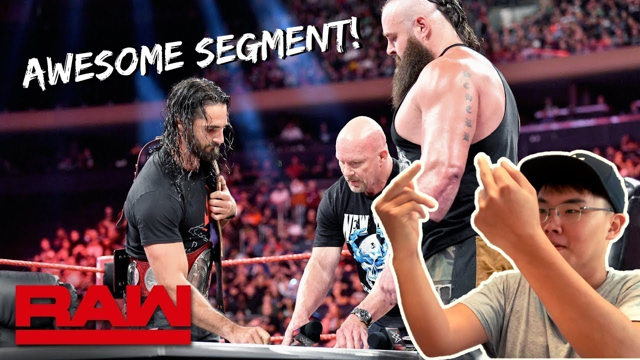 Download LIVE REACTION: Stone Cold Moderates Universal Title Match Contract Signing | Raw Sept 9 2019