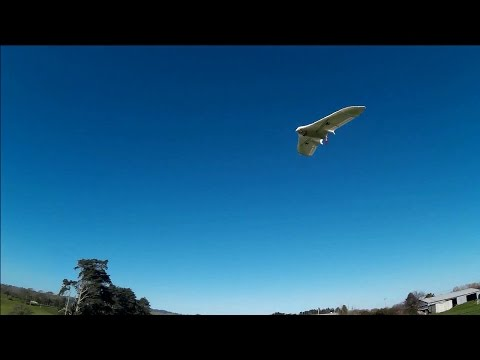 Plane gyro stabilizer test flight (arduino)
