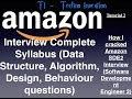 Amazon Interview preparation Syllabus -
