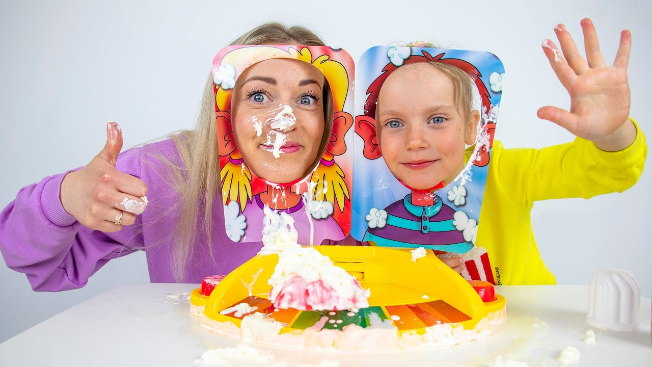 Pie Face challenge for kids - Funny family game
