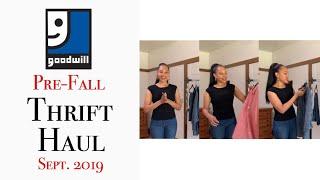Pre-Fall Thrift Haul 2019 | Goodwill