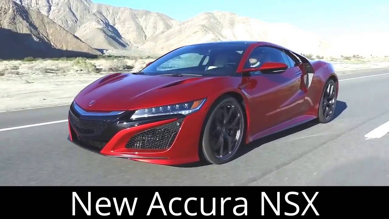 2017 All New Acura NSX Top Speed and Test Drive - YouTube