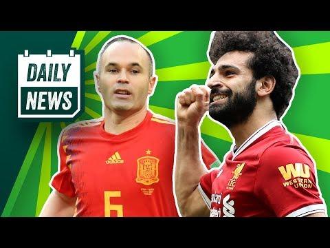 Salah verlängert bei Klopp, Boateng bleibt bei Bayern! Spanien ist raus und Iniesta tritt zurück!