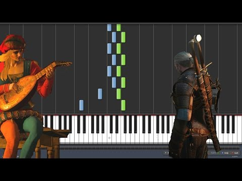 Priscilla's Song - Witcher 3 [Piano Tutorial] (Synthesia)