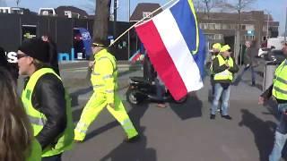 Gele Hesjes Demonstratie Hilversum : gele hesjes vertrekken naar het media park hilversum