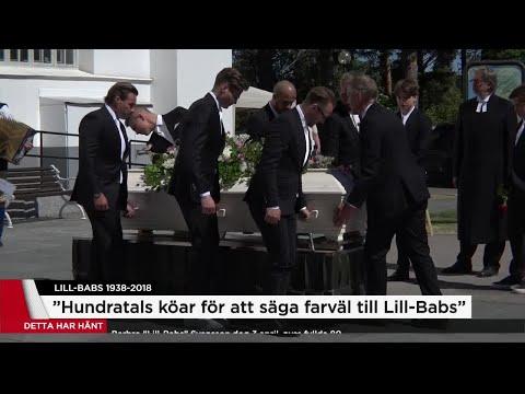 """Orden efter Lill-Babs begravning: """"Hon var alltid där med glädjen och kärleken"""" - Nyheterna TV4"""