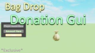 Bag Drop Donation Gui | Roblox