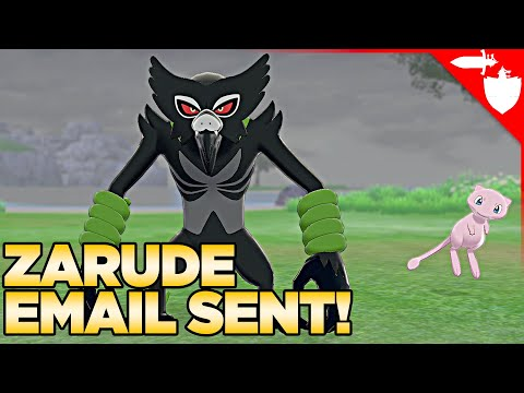 Redeem Zarude Email Now to get Zarude in Pokemon Sword and Shield