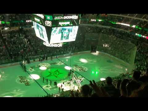 Dallas Stars 2018-2019 opener Player introduction