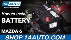 How to Replace Battery 02-07 Mazda 6