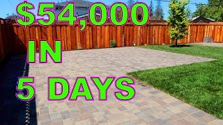 how we completed a 54000 landscaping job in 5 days