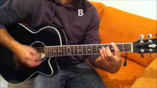Justin Bieber Pray - How To Play - Real Guitar Chords - HD