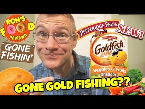 NEW!! PEPPERIDGE FARM GOLDFISH WITH VEGGIES & FRUIT! CHEDDAR FLAVOUR!! TASTE AND REVIEW!!