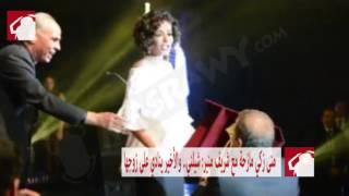 بالفيديو- موقف طريف بين منى زكي وشريف منير