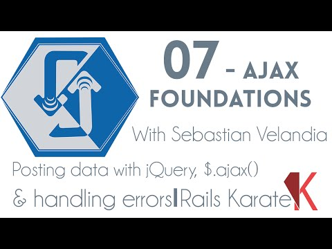 Ajax Foundations | Posting data with jQuery, ajax method and handling errors | 07