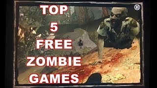 Top 5 Best Free Zombie Games For Halloween (iPhone-iPad-iPod) *Gameplay*