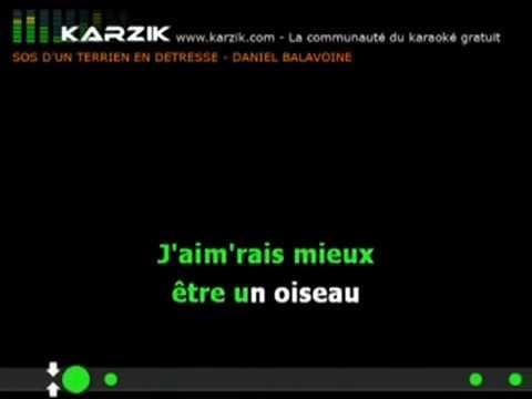 Daniel Balavoine Sos D Un Terrien En Détresse Karaoké Version Youtube