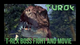 Turok - T-Rex Boss Fight and Movie - Gameplay  | PC / HD |