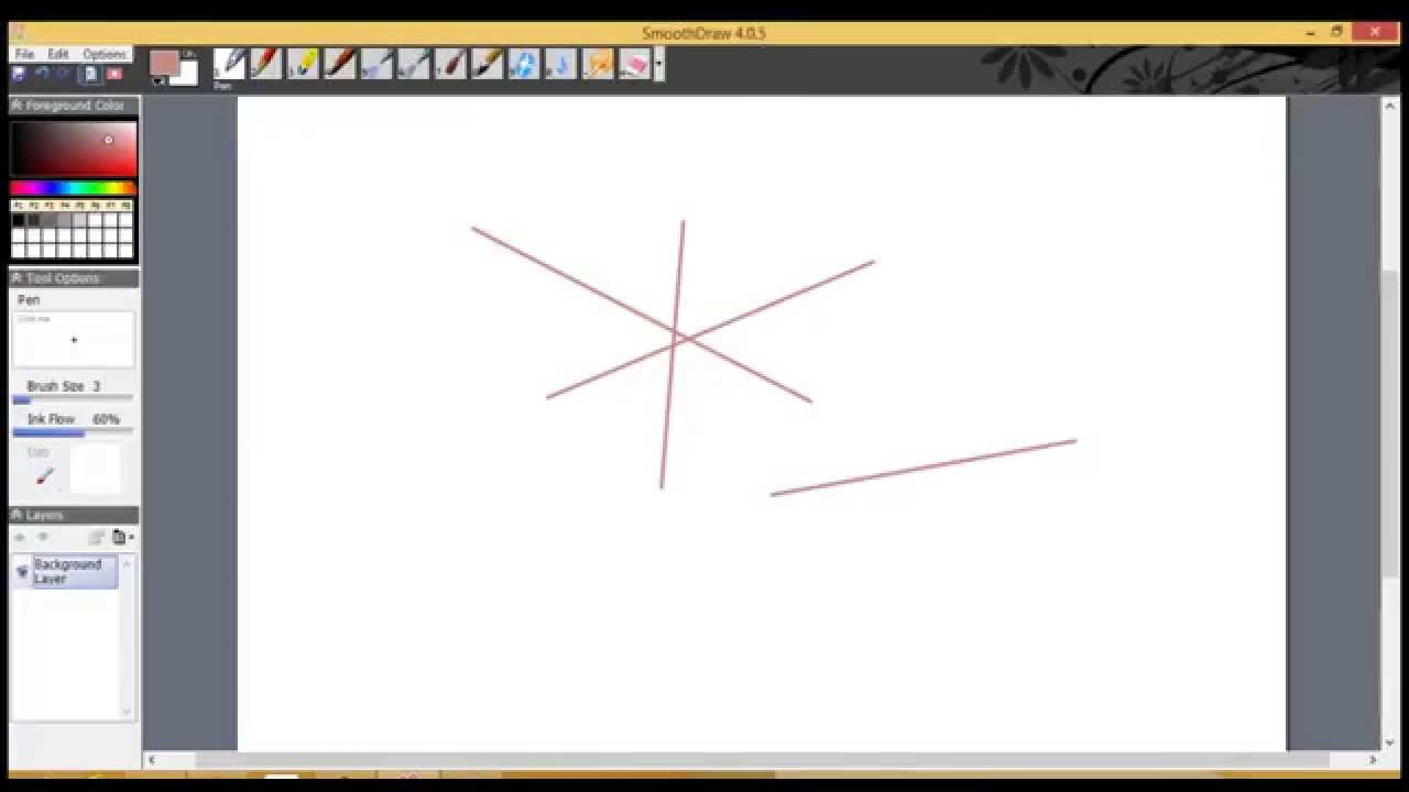 How To Draw Straight Line In Art Studio : How to draw straight lines in smoothdraw youtube