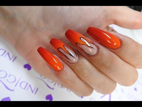 Fire ombre nail art Indigo tutorial thumbnail