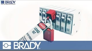 Brady Lockout Tagout Device Movie: Clamp on breaker lockout