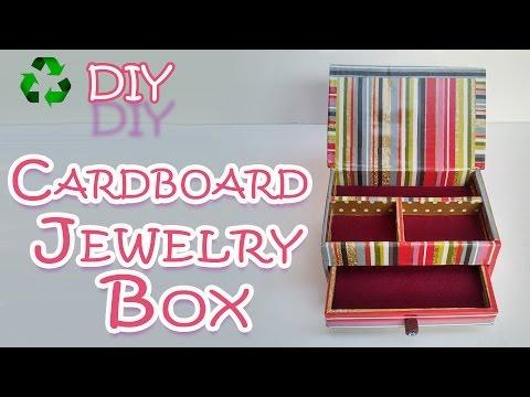 How to make a Cardboard Jewelry Box - Ana | DIY Crafts.