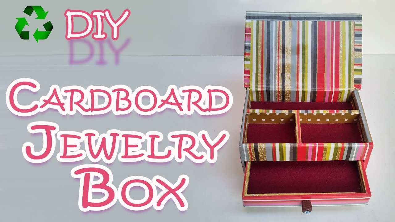 How to make a Cardboard Jewelry Box Ana DIY Crafts YouTube