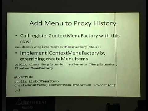 BayThreat 4 (2013): Monika Morrow - So You Want to Build A Burp Plugin