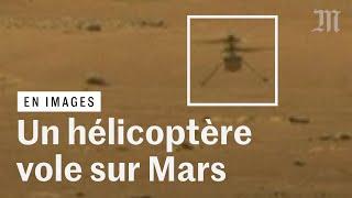 Les images d'Ingenuity, le premier hélicoptère à voler sur Mars
