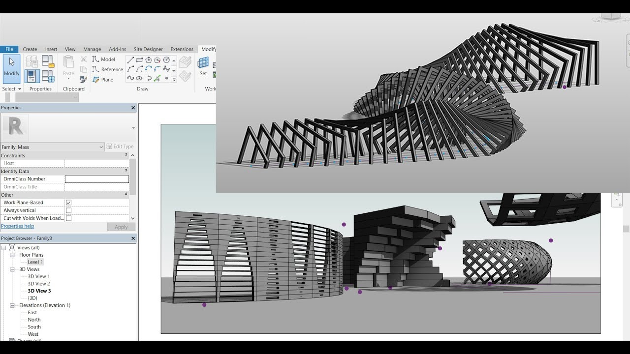 Parametric Computational Designing Using Revit K