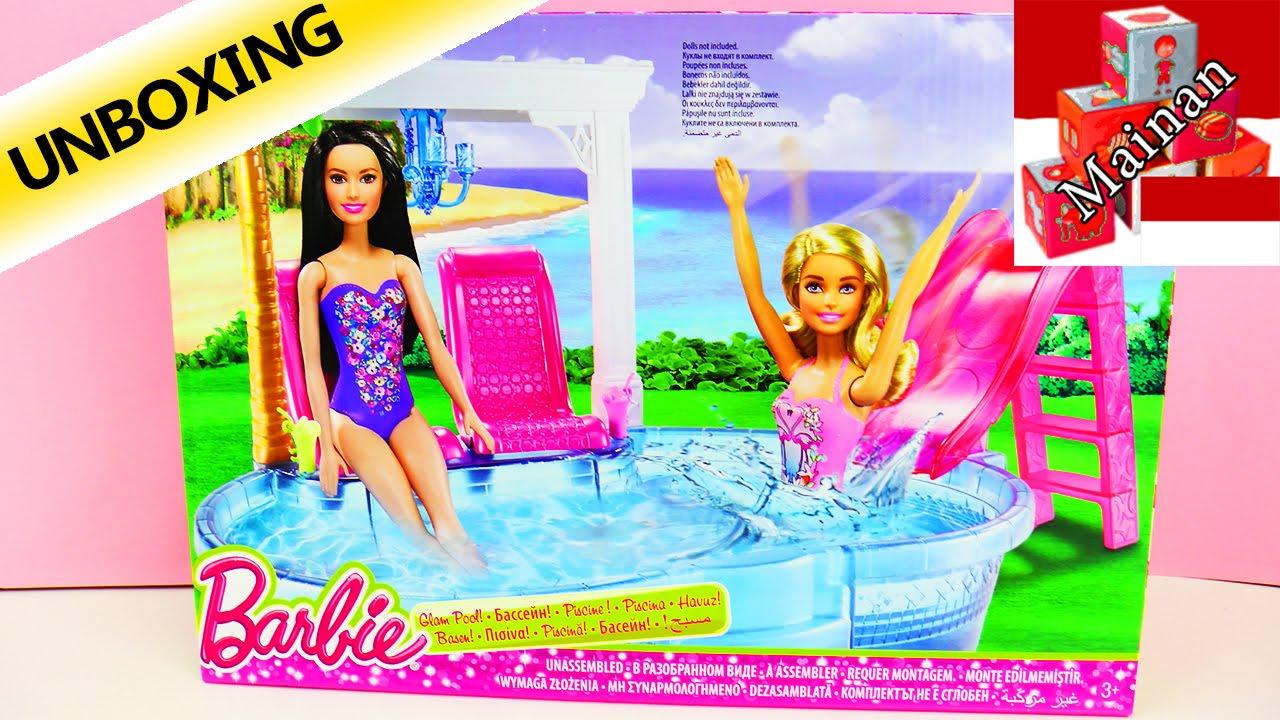 Barbie Kolam renang dengan kursi berjemur 268636285b