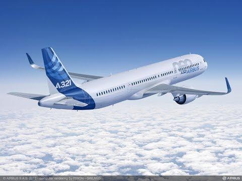 Vol d'entraînement A321 Salon du Bourget