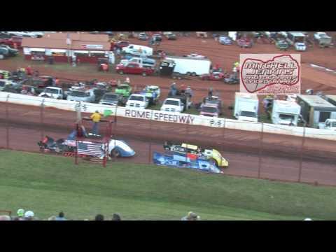 Rome Speedway 6/28/15 Crate Latemodel Heats 1&2!