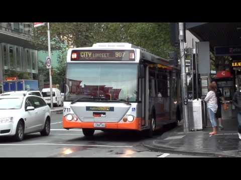 Trams and buses in the city - Melbourne Transport