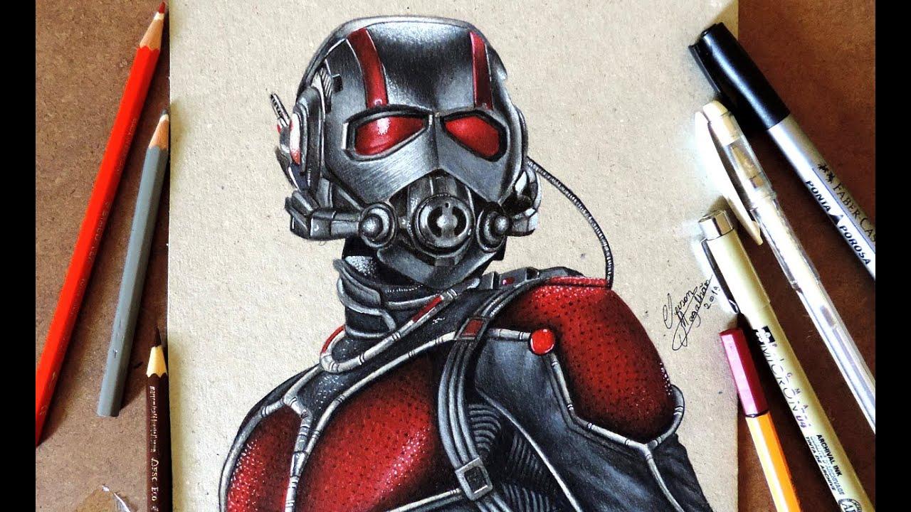 Drawing Ant Man Desenhando O Homem Formiga Youtube