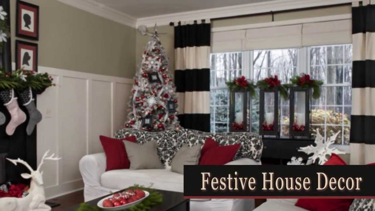 Christmas decorations for every room in the house youtube for Home decorations youtube