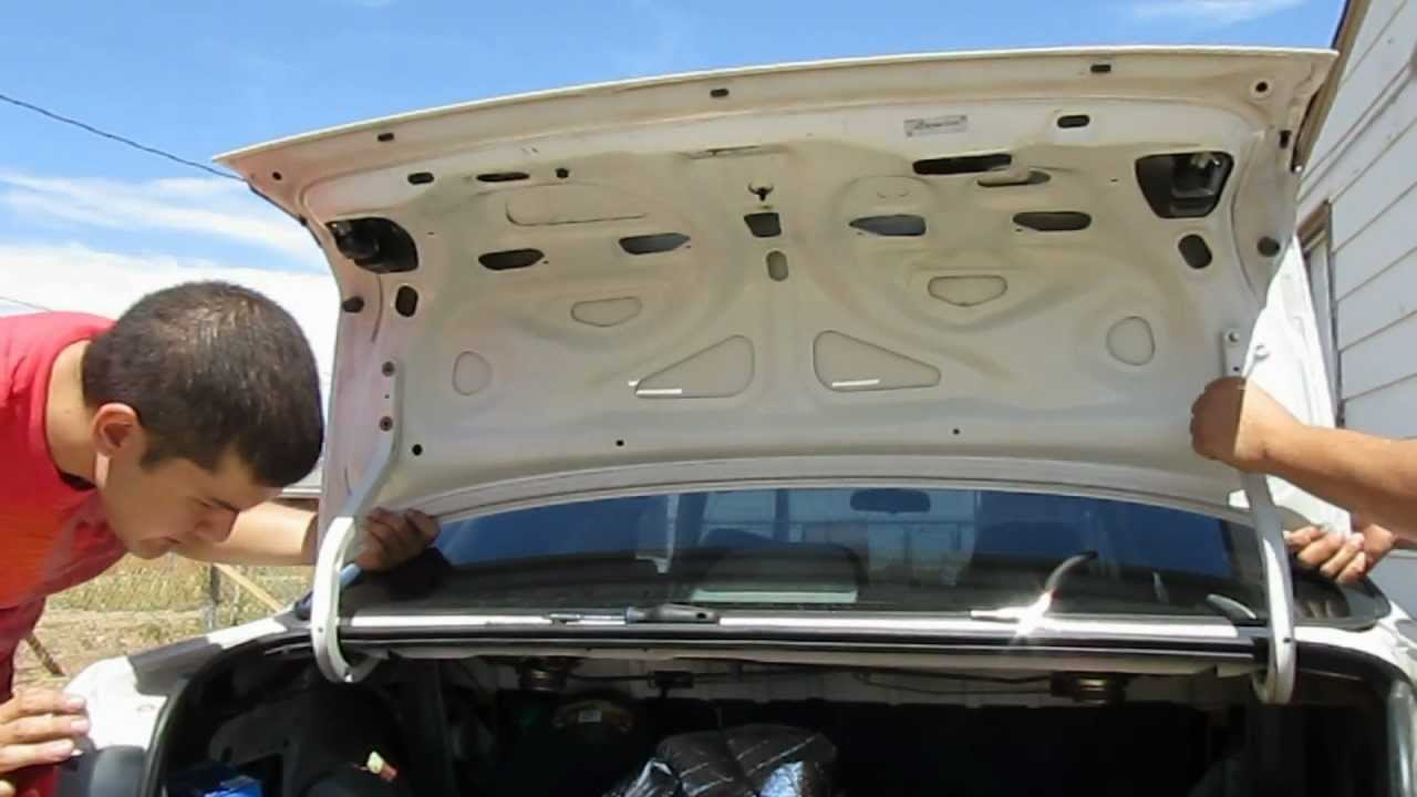 1998 Honda Civic Ex Trunk Lid Replacement Youtube