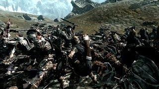 Skyrim Battles - General Falx Carius & 10 Imperial Briarhearts vs 25+ Stormcloaks [Master Settings]