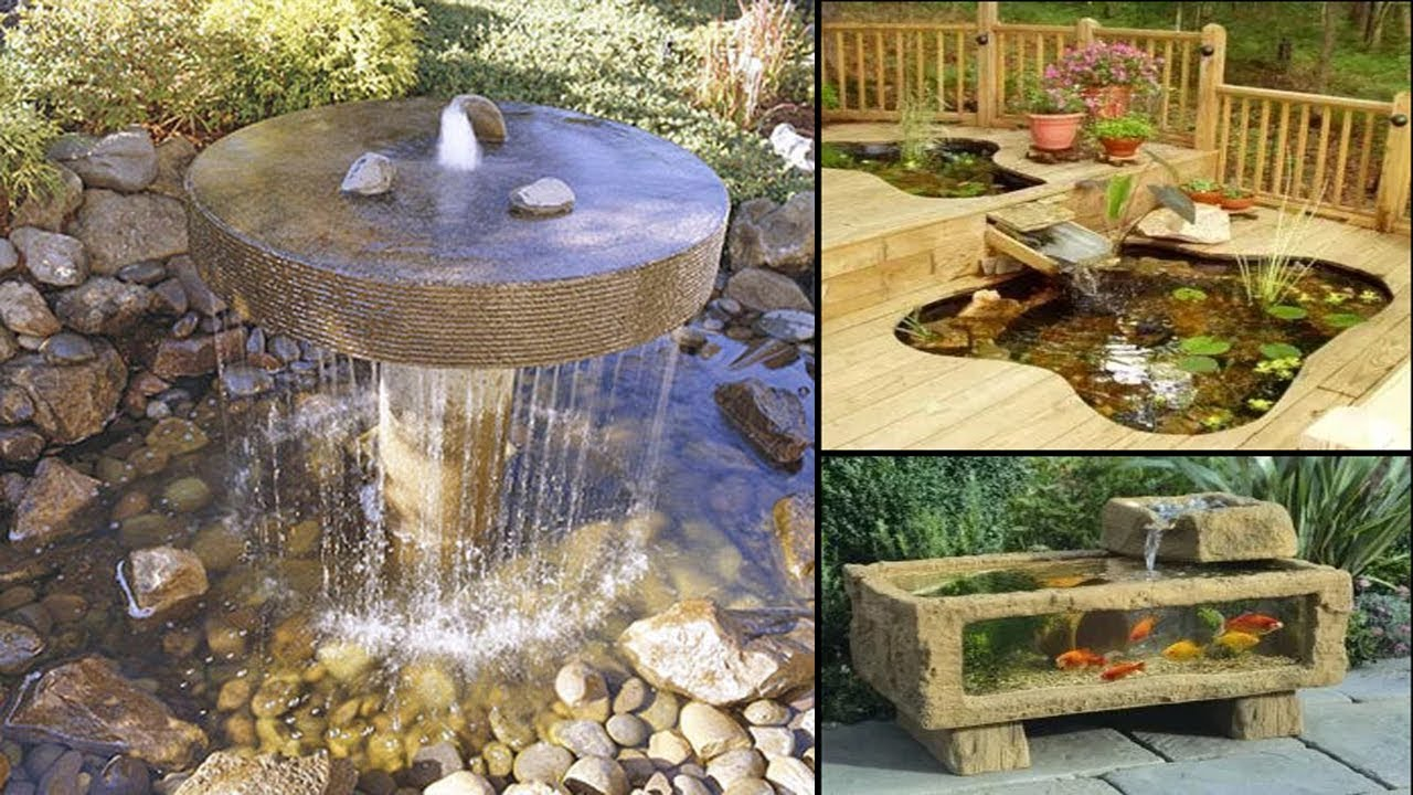 50 backyard water garden ideas waterfall fountain 2017