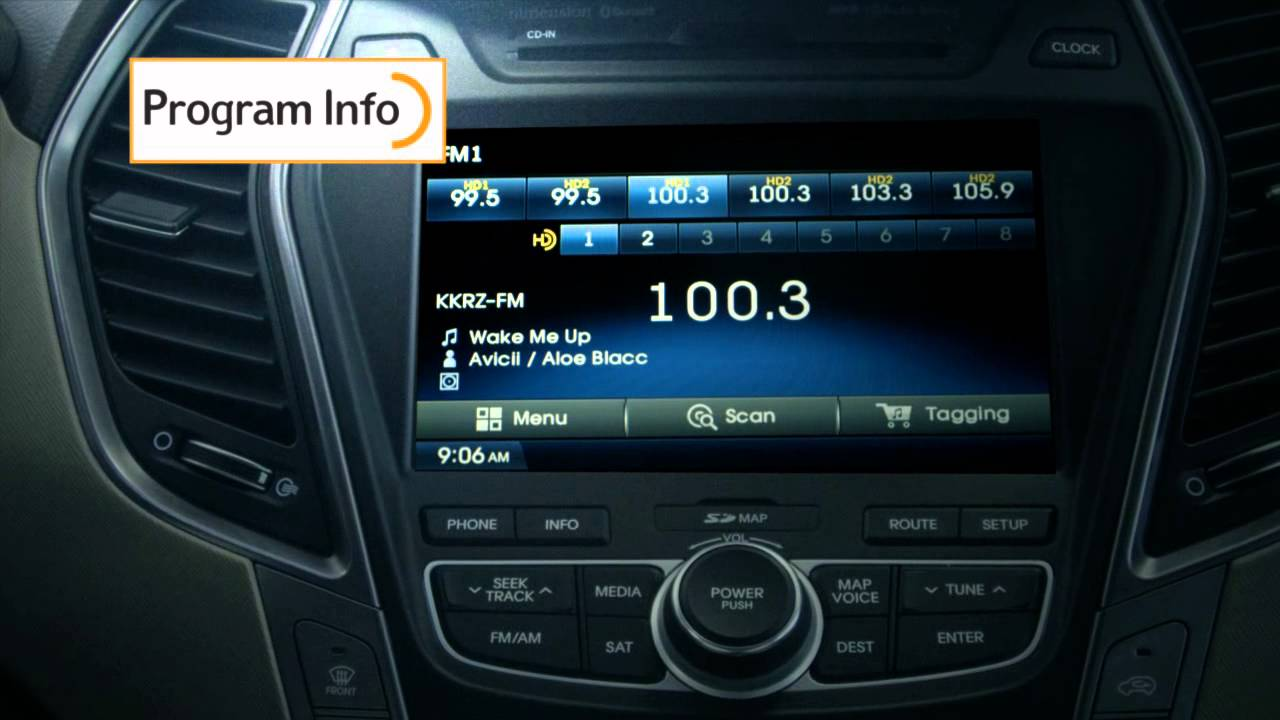 2014 Amp 2015 Hyundai Santa Fe W Hd Radio Technology Youtube