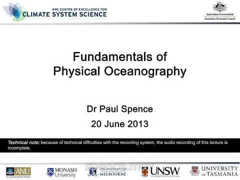 Fundamentals of Physical Oceanography (Dr Paul Spence)