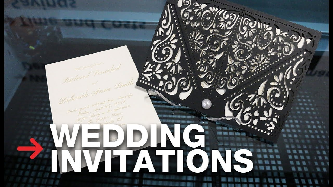 Laser Cut Wedding Invitation Laser Cutting Paper Speedy 400