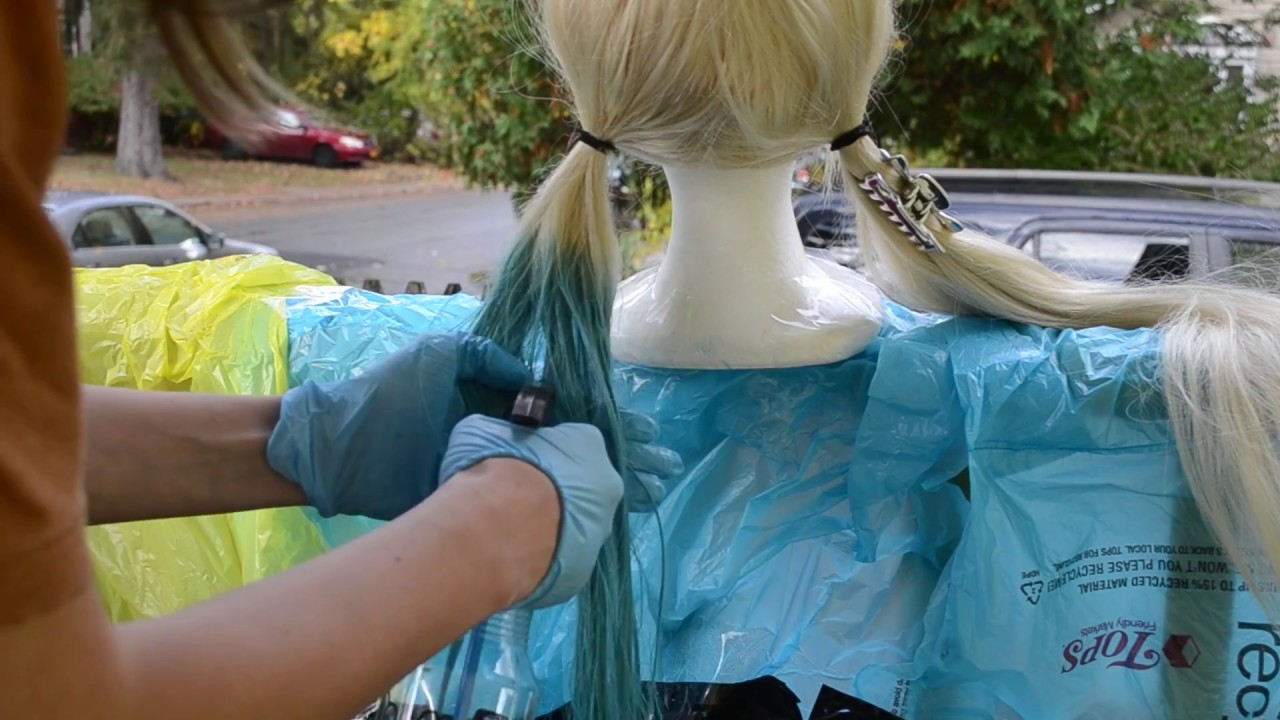 How to Dye a Synthetic Wig   FW Ink Method - YouTube