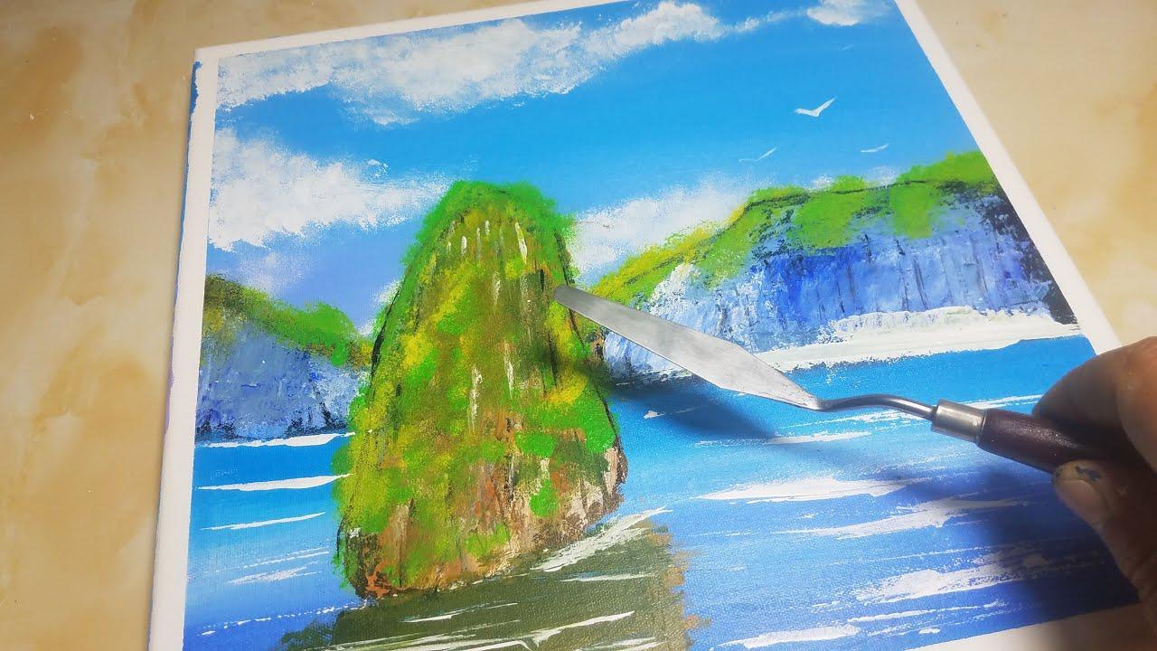  Easy Island   Acrylic Painting on Canvas with Dahais Art Satisfying #47