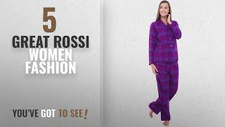 Rossi Women Fashion [2018 Best Sellers]: Alexander Del Rossa Womens Flannel Pajamas, Long Cotton Pj